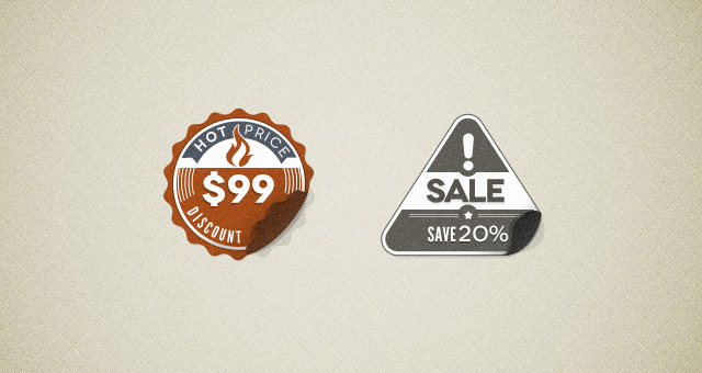Modern Vintage Stickers Badges Psd