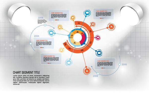 Modern business background design vector 02