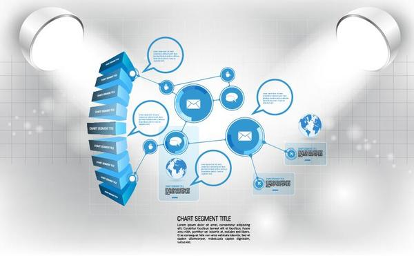 Modern business background design vector 09