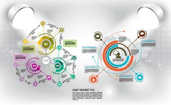 Modern business background design vector 13