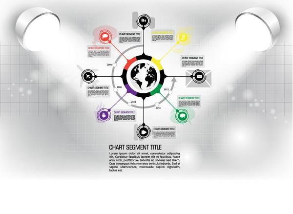 Modern business background design vector 15
