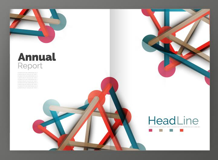 Molecule Annual Report Brochure Cover Template Vector 11 - Vector