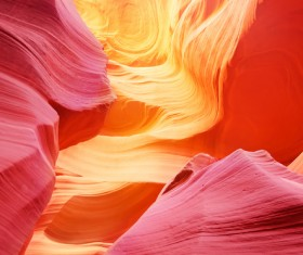 Natural landscape Antelope Canyon United States Stock Photo 02