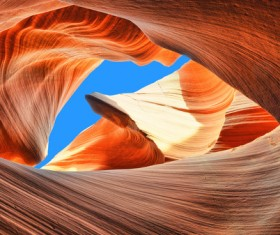 Natural landscape Antelope Canyon United States Stock Photo 04