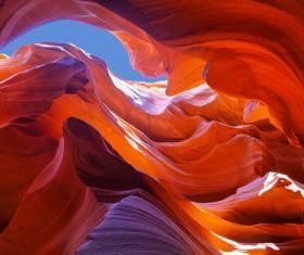 Natural landscape Antelope Canyon United States Stock Photo 06