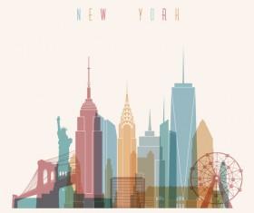 New york building vector illustration