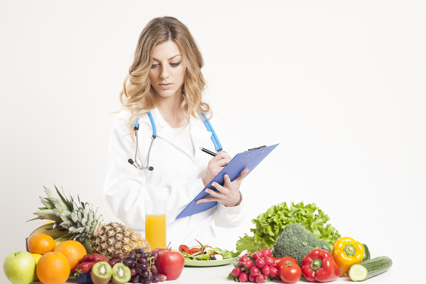 Nutritionist with fresh vegetables and fruits HD picture 03