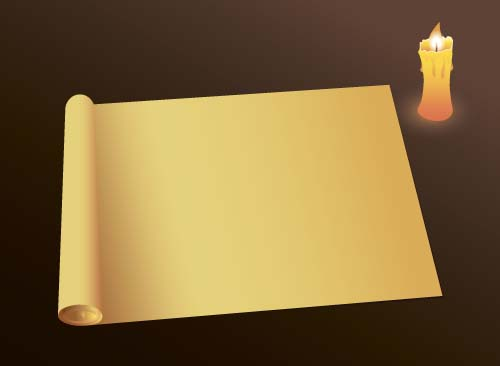 Old paper and candle vector background 02
