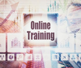 Online Training Concepts Stock Photo 01