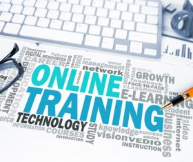 Online Training Concepts Stock Photo 03