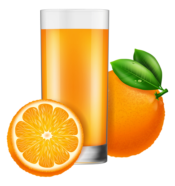 orange juice with glass cup vectors 02 free download