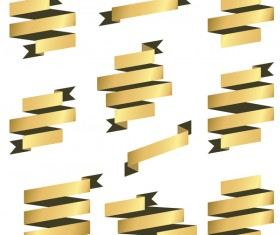 Origami ribbon vectors material 01
