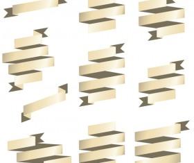 Origami ribbon vectors material 04