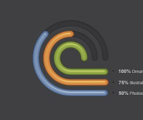 PSD Radial Creative Infographic