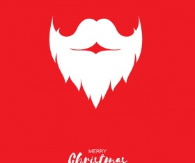 Paper beard with christmas card vectors 01