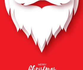 Paper beard with christmas card vectors 02