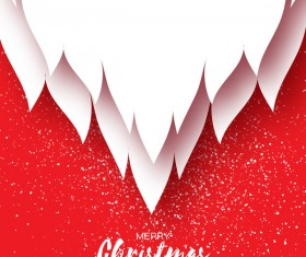 Paper beard with christmas card vectors 03