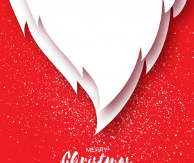 Paper beard with christmas card vectors 04