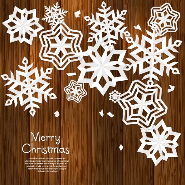 Paper snowflake vector
