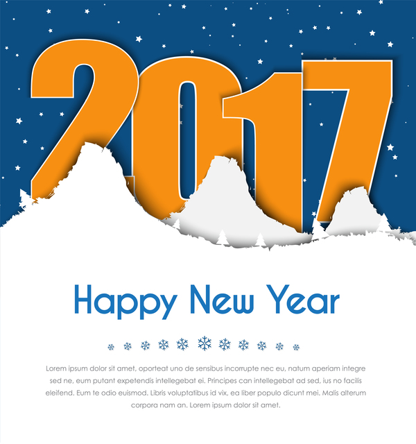 Happy new year 2017 vector greeting card free download happy new year 2017 vector greeting card m4hsunfo