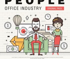 People office industry template vectors sert 12