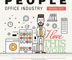 People office industry template vectors sert 13