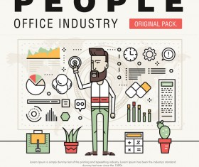People office industry template vectors sert 14