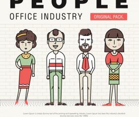 People office industry template vectors sert 15