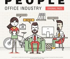 People office industry template vectors sert 16