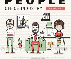 People office industry template vectors sert 17