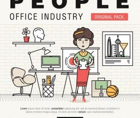 People office industry template vectors sert 18