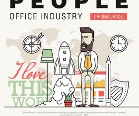 People office industry template vectors sert 19