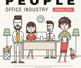 People office industry template vectors sert 20