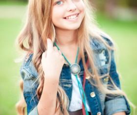 Pretty blonde little girl 02