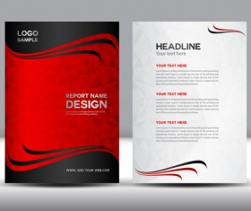 Red cover brochure flyer template vector