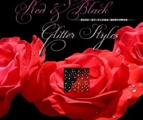 RedBlack Glitter Photoshop Styles