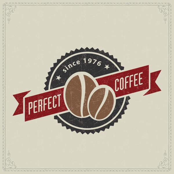 Retro coffee labels design vectors set 03