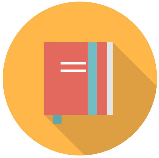 Retro Round Book Icons Vector Icons Free Download
