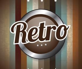 Retro style grunge background vector 01