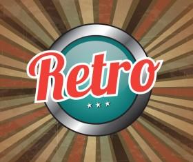 Retro style grunge background vector 02