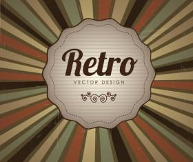 Retro style grunge background vector 03