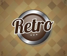 Retro style grunge background vector 04