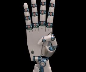 Robot hand bending the thumb Stock Photo