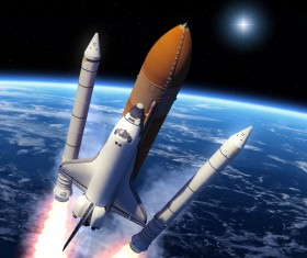 Rocket Separation and Space Shuttle HD picture