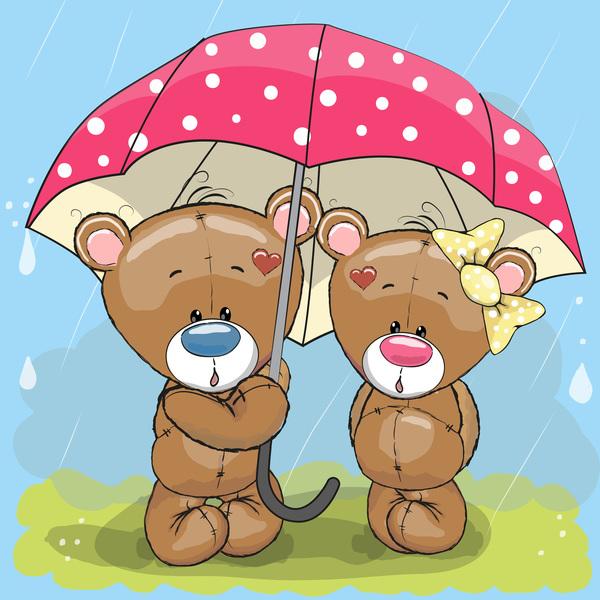 Teddy bear cartoon love