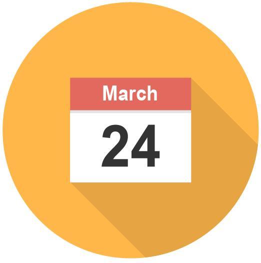 Round calendar icon