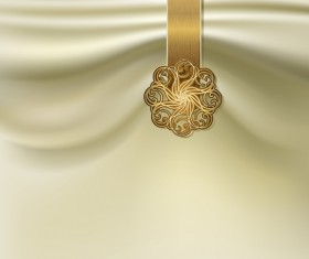 Silk with decorative background vector