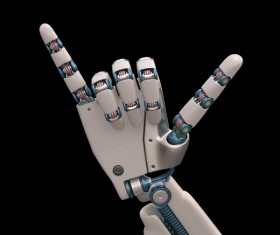 Six of the Robot hand Stock Photo