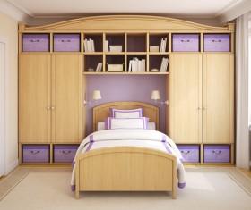 Small bedroom chic decoration Stock Photo