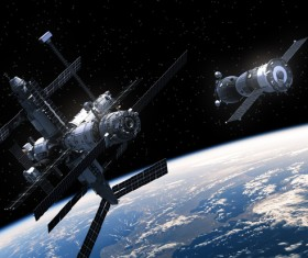 Space satellite in orbit satellite HD picture